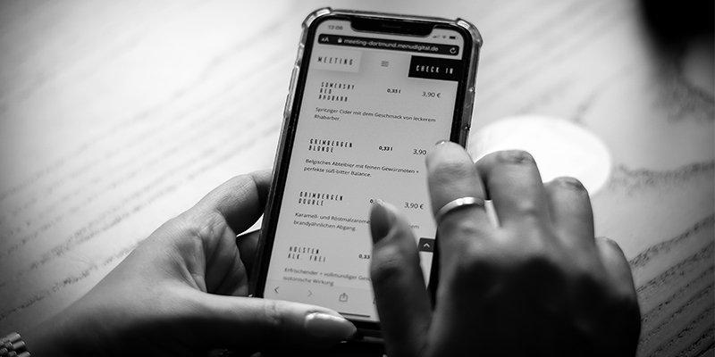 MENU DIGITAL auf dem Smartphone